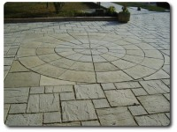 big antique round paving